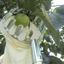 Metal Fruit Picker Convenient Fabric Orchard Gardening Apple Peach High Tree