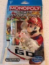 HASBRO MONOPOLY GAMER NINTENDO FIRE MARIO  BOARD GAME POWER PACK