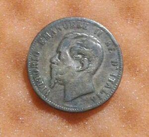 1867 Italy 10 Centesimi Old Coin