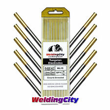 "10-pk TIG Welding Tungsten Electrode 1.5% Lanthanated Gold 040""-1/16"" US Seller"
