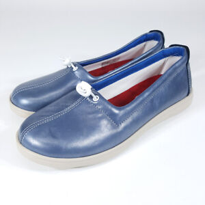 SAS Funk Sky Leather Active Slip on Blue Loafer Shoes Women's 7.5W