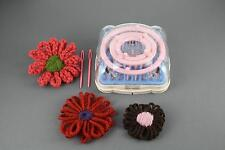 flower loom 6 shape set kit to make diy yarn hana ami flowers includes 2 needles