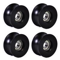 4Pcs 0840UU 8mm Groove Guide Pulley Sealed Rail Ball Bearing 8x40x20.7mm Pop