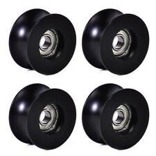 POP 4Pcs 0840UU 8mm Groove Guide Pulley Sealed Rail Ball Bearing 8x40x20.7mm UK