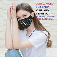 Face Mask Protective Covering Mouth Masks Washable Reusable jewels party masksUK