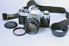 Canon AE-1 35mm SLR Film Camera with Canon FD 50mm f1.4 Lens One Owner Perfect