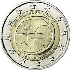 PIECE 2 EUROS COMMEMORATIVE FRANCE 2009 10 ANS UNION ECONOMIQUE