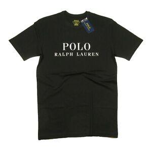 Polo Ralph Lauren Men's Black Logo Graphic Print Crew-Neck Sleep T-Shirt