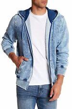 $198 NWT Diesel Men's Diego Zip Up Hoodie Sweat-Shirt INDIGO-BLUE Size S