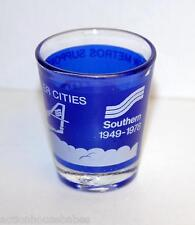 Southern 1949-1978 SHOT GLASS -airline- NEW METROS SUPPORT SMALLER CITIES (blue)