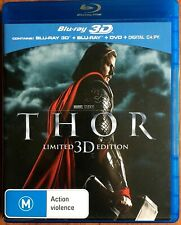 THOR - Chris Hemsworth (Blu-Ray 3D + Blu-Ray + DVD) Limited Edition - Rated M