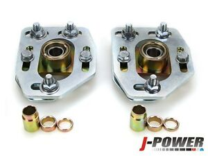 fit 79-89 Ford Mustang Front Camber Caster Plates Alignment Kit Adjustable STEEL