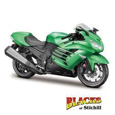 1:12 Maisto escala Kawasaki Ninja ZX14-R Kit Modelo Diecast Moto Verde