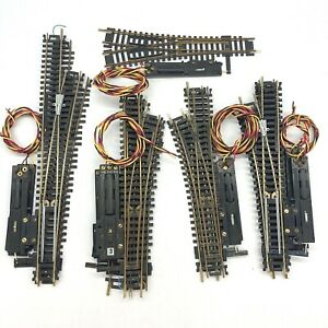 HO Scale Lot Of Switches Left And Right and some track