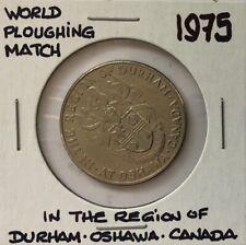 1975 ~ WORLD PLOUGHING MATCH Token ~ OSHAWA, CANADA ~ EF45+ Condition