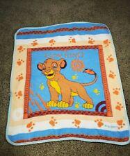 Vintage Disney The Lion King Simba Throw Blanket San Marcos Vtg Rare