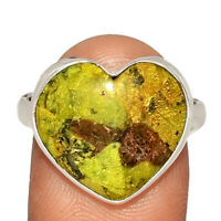 Heart - Rare Atlantisite 925 Sterling Silver Ring Jewelry s.9 AR201208 XGB