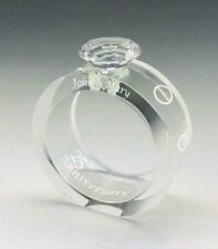 Anniversary Wedding DIAMOND Ring Crystal - Free Personalized, Presentation Box