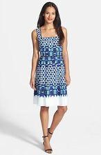 ADRIANNA PAPELL CREPE DE CHIN PRINT FIT FLARE DRESS sz 12