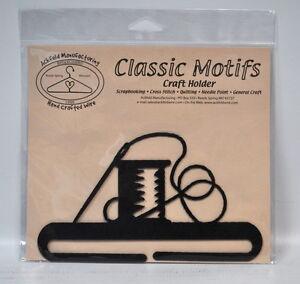 Classic Motifs 6 Inch Needle & Thread Split Bottom Craft Holder
