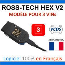 ROSS-TECH HEX-V2 3 VINs pour groupe VAG (1996 à 2017+) en Français VAS VAG COM