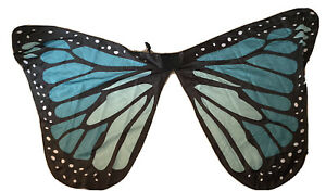 Butterfly Cape Collar Shawl Blue Monarch NEW Costume Fun! Adults