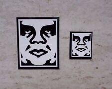 "2 Andre The Giant obedecer"" ""icono Pegatinas de vinilo 8 cm X 6.5 CM & 4 cm X 3.5 cm Banksy"
