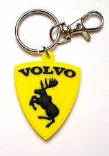 Keyring Volvo V40 V50 S40 XC90 key chain - Yellow moose as decal - UNIQUE GIFT