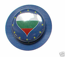 2 Badges Europe [25mm] PIN BACK BUTTON EPINGLE  Bulgarie