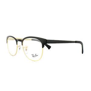 Ray-Ban Glasses Frames 6317 2833 Top Black on Matte Gold Mens Womens 51mm