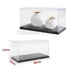 "Clear Acrylic Display Show Box Case Protection Toys Dustproof Big 26x13x13cm 10"""