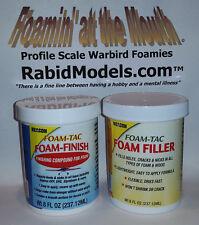 BEACON FOAM-FINISH & FOAM FILLER SET - TWO 8 oz jars - FOAM SAFE, flexible, easy