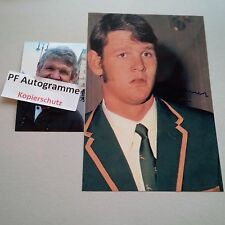 MORNE DU PLESSIS RUGBY player SPRINGBOKS IN-PERSON signed photo 8x12 autograph