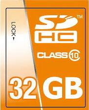 Scheda di memoria 32GB SDHC classe 10 High Speed per fotocamera Canon EOS 1100D
