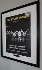 The Stone Roses-Hampden Park 2017-Original Poster Luxury Framed-Oasis-Ian Brown-
