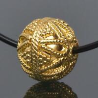 10.00mm Gold Vermeil Sterling Silver Bali Granulation Bead 18K Gold-Plated 2.35g