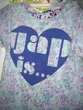 Girls TopPulloverTShirt GapKids MutiColor Hearts Logo XXL14-16  ShortSlvs  GUC