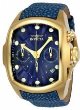 Invicta Men's Lupah Quartz Chronograph Stainless Steel Leather 100m Watch 24035