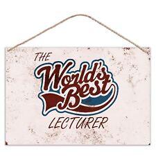 au monde meilleur maître de conférences - look vintage métal grand SIGNE PLAQUE