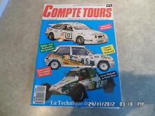 COMPTE TOURS N°1 09/1989 RALLYE MONT BLANC MONT DOR D11