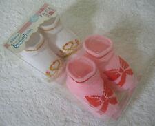 Disney Baby Booties Christmas Holiday Socks Lot of 2 Infant Princess Glitter NEW