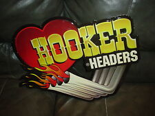 HOOKER HEADERS METAL /TIN GARAGE SIGN