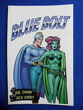 ~ Verotik ~ Blue Bolt~ Joe Simon & Jack Kirby ~1998 1St Print~ Hard To Find!~