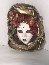 Vintage Ceramic Art Wall Art Mask Hindu woman Mask