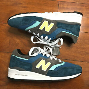 NEW BALANCE 997 Made In USA M997PAC Sneakers Blue Green Grey SIZE 12