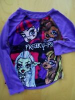 Monster High Purple Sleep Time Top girls sz M 7/8