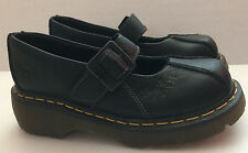 New Dr Martens Docs Women's Black Leather Mary Jane w/Buckle Shoes US 7