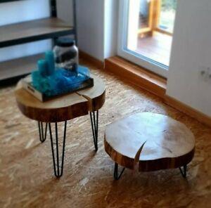Live Edge Tree Slice Rustic Wood Site Coffe Table Industrial Loft Farmhouse