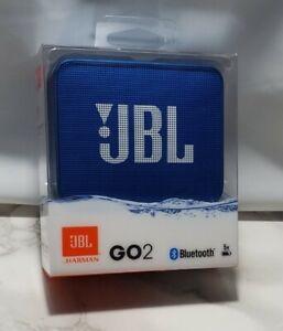 JBL Go 2 Bluetooth Waterproof Portable Speaker - Blue