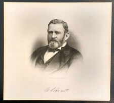 Antique Ulysses S. Grant Engraving by HB Hall's Sons